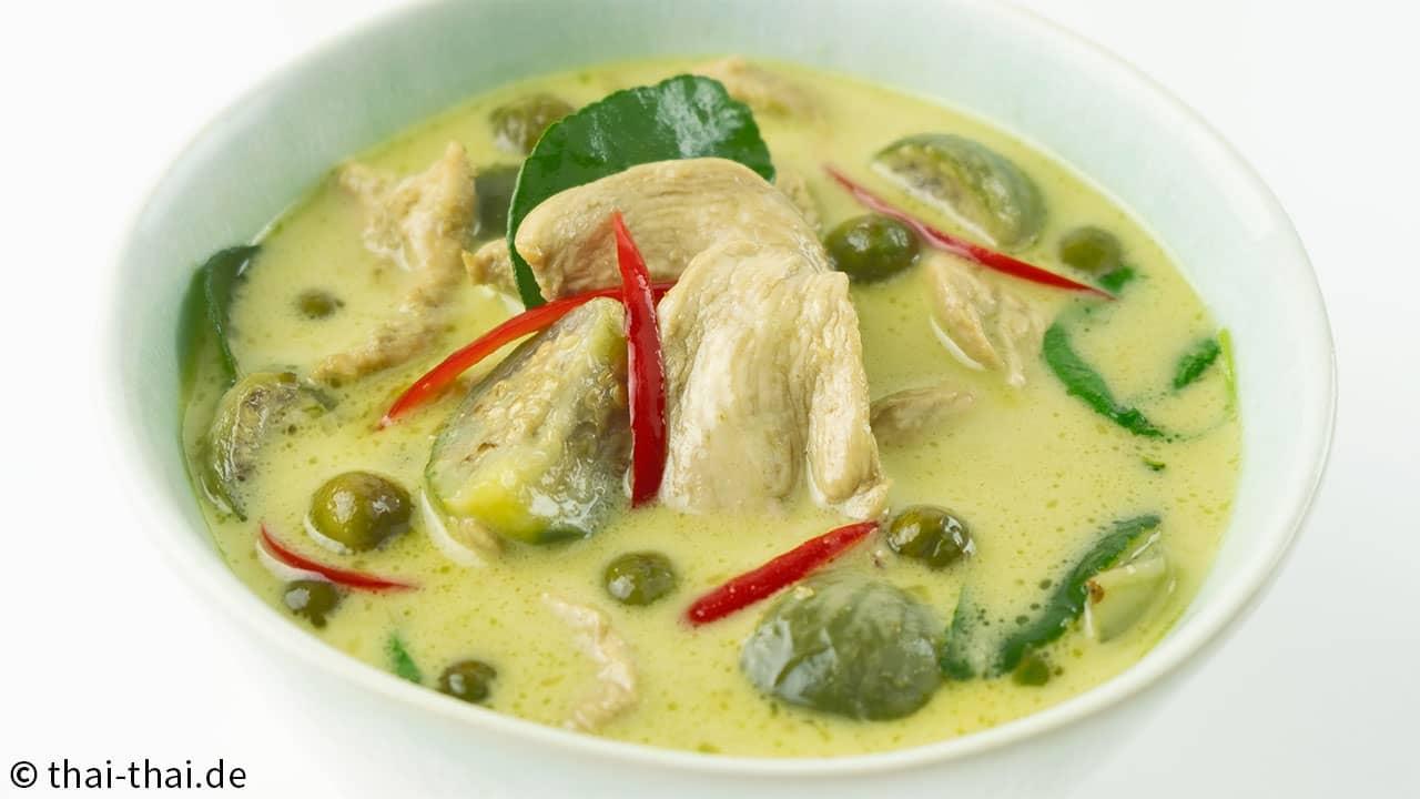 Thai Gruenes Curry mit Hähnchen