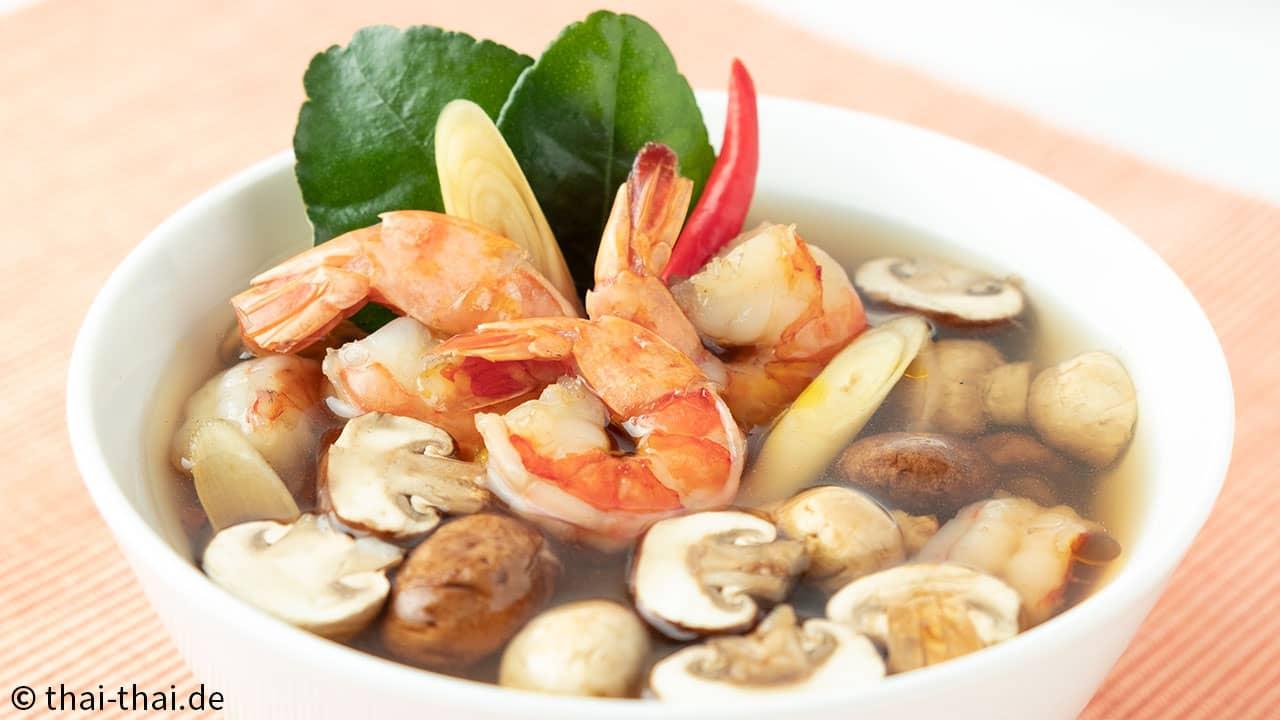Tom Yam Suppe mit Garnelen
