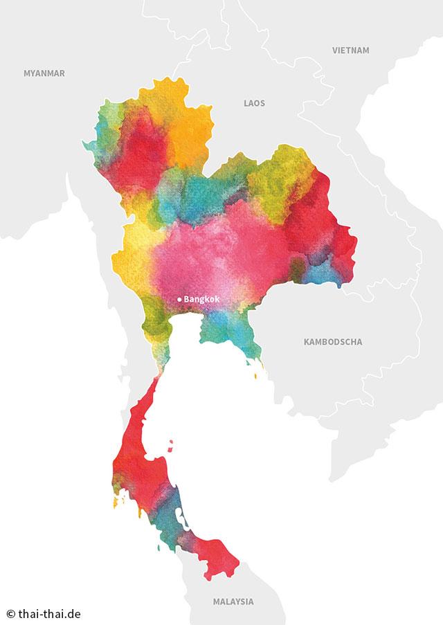 Landkarte Thailand